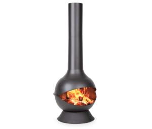 blumfeldt Knight on Fire - Poêle à Bois de Jardin, Design cheminée INOX Noir
