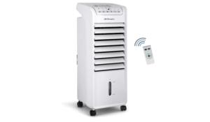 Orbegozo AIR 46 Climatiseur évaporatif 3 en 1, 3 vitesses, minuteur, accumulateur de froid, réservoir de 6 l, télécommande
